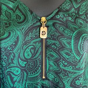 Micheal Kors-Green and Navy floral pattern